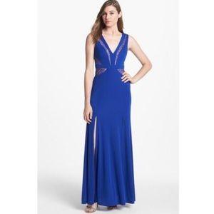 BCBGmaxazria  Gorgeous V Neck Maxi Gown